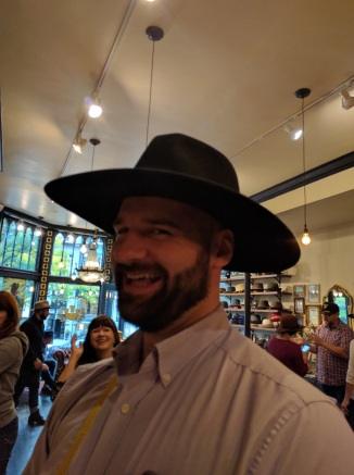 We took Chandler and Sharon to my favorite hat shop in Boston (in anywhere really).