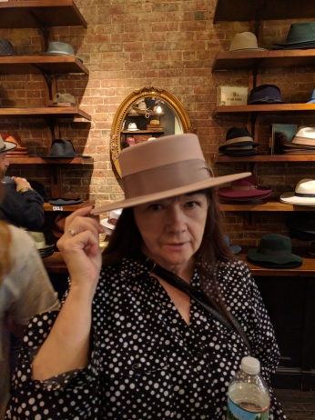 Sharon should have got this hat. Sadly, this hat is pining for her.