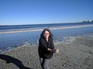 Sharon was so incredibly happy to be near the ocean again, to find shells on the New England beaches. I guess after five years I've taken it for granted.